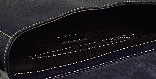 Leder Schultertasche  Marcia Groß Schultertasche Crossbody Handtasche Navy Ledertasche Made in Italy