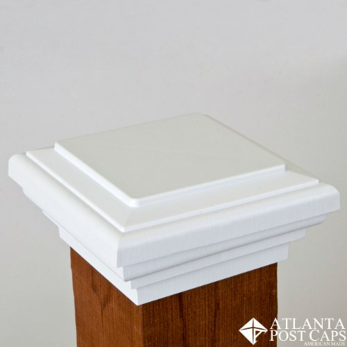 4x4 Post Cap (Nominal) - White Flat Top - 10 Year Warranty
