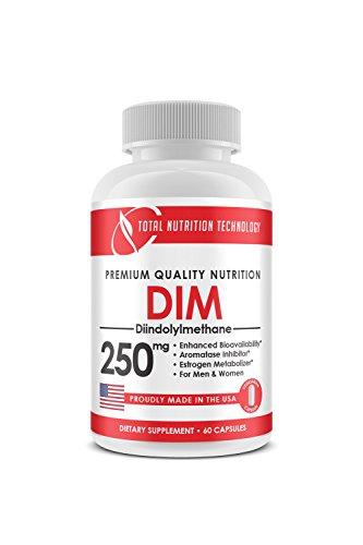 DIM Supplement 250mg Plus BioPerine - Estrogen Balance - Aromatase Inhibitor-Menopause Support - TNT Supplements (60 Capsules)