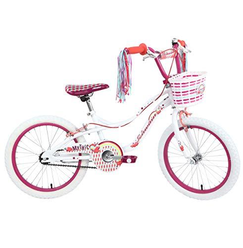 Schwinn Girls' Mythic Unicorn Kids Bike, White, 18' (Age 5+)