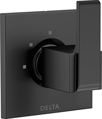 Delta Faucet T11867-BL Ara 3-Setting 2-Port Diverter Trim, Matte Black,
