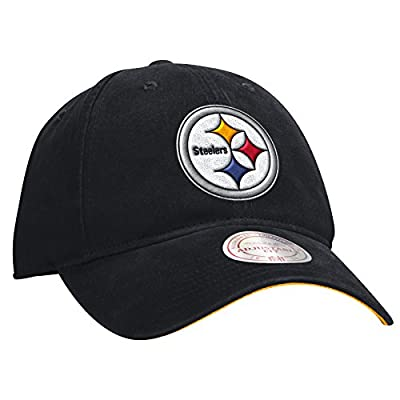 "Pittsburgh Steelers Mitchell & Ness NFL ""Throwback Logo"" Slouch Adjustable Hat by Mitchell & Ness"