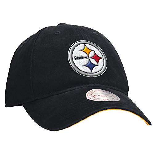 (Mitchell & Ness Pittsburgh Steelers NFL Throwback Logo Slouch Adjustable Hat)