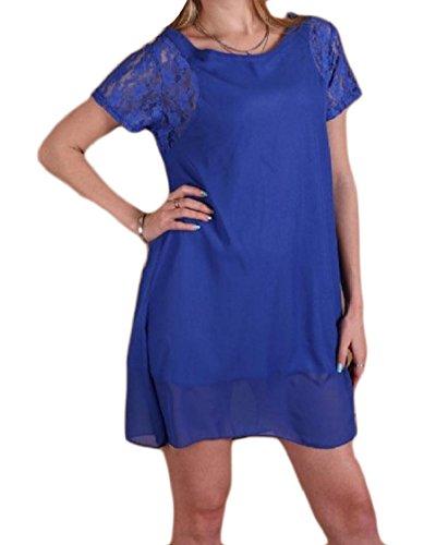 Dresses Color Coolred Chiffon Solid Women Lightweight Sleeve Club Evening Lace Short Hem Pattern1 ESSPqZrwW