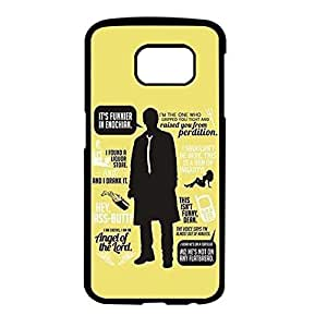 Case For Samsung Galaxy S6 Black And White Supernatural Quotes Keep Calm Cover Case