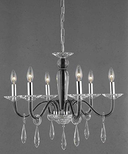 Avalon Collection 6-Light Black Fix With Clear Swarovski Strass Crystal