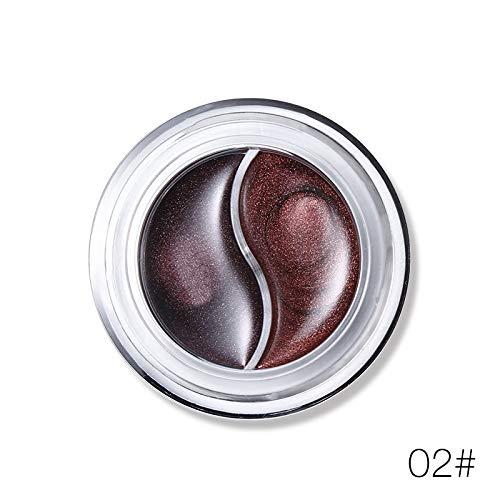 Krassu - New and Gel Eyeliner Makeup Palette Shimmer Matte Waterproof Lasting Not Blooming Eye Liner Gel Cream with Brush [2] ()