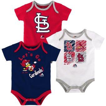 St. Louis Cardinals Baby/Infant Go Team 3 Piece Creeper Set 18 Months (Stl Cardinals Onesie)