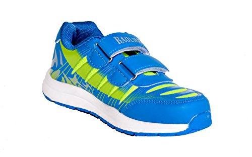 BTS - Zapatillas de Piel para niño 36 Varios Colores - Blau/ Grün