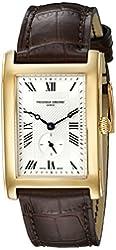 Frederique Constant Unisex FC235MC25 Carree Analog Display Swiss Quartz Brown Watch