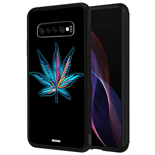 Galaxy S10 Plus Case,AIRWEE Slim Shockproof Silicone TPU Back Protective Cover Case for Samsung Galaxy S10 Plus (2019) 6.4 inch,Smoke Weed Marijuana