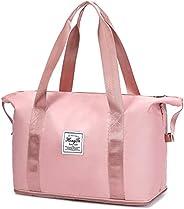 Travel Bag for Women, Sport Tote Gym Bag, Shoulder Weekender Overnight Bag for Women, Workout Duffle Bag Carry