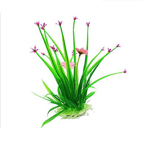 YSY Acuario decoración simulación Planta de Agua plástico Flor simulación Planta Acuario paisajismo,XXL