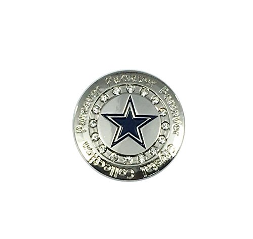 Swarovski Crystal Golf Ball Marker w/ Hat Clip - Parsaver Sports - Unmatched Brilliance and Sparkle on the Greens (Cowboys)