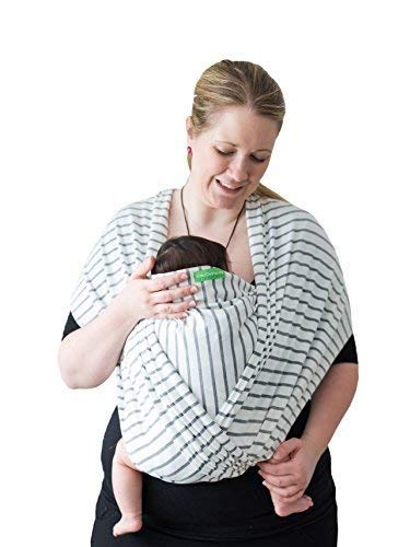 BabyChamp Draagdoek voor pasgeborenen, het perfecte cadeau, ontworpen in Berlijn en Londen Large Gestreept