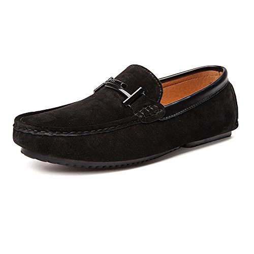 Vera Mocassini Vamp Driving Black Penny Soft Cricket in Mocassini Pelle da Uomo Sole Scarpe da wq0XSBxta