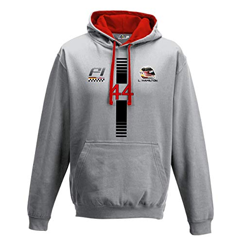 KiarenzaFD Hoodie Bico Motoring Formula Lewis 44 Hamilton Uno 1 Grand Prix Dark -