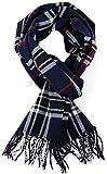 EASY4BUY® Woolen Muffler,Scarves,Stoles for Men & Women(Checked Blue-03)