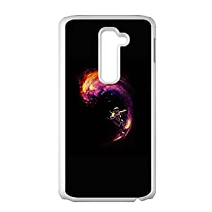 LG G2 Cell Phone Case White Space Surfing IVA Hard Design Cell Phone Case