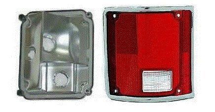 91 Chevrolet Light Truck (73 - 87 Chevrolet GMC Truck Taillight DRIVER NEW Taillamp CHROME Trim Lens and Housing 73-91 Blazer Jimmy Suburban)