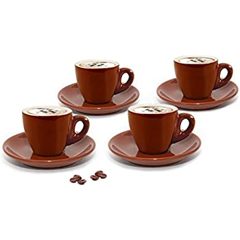 9aa8c9827c2c5 Guangyang Coffee Cups Saucers Set of 4-7OZ New Bone China Embossed ...