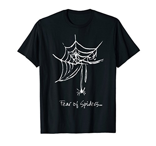 Spider Web Halloween T Shirt Fear of Spiders