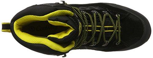 Conway 607417, Zapatos de High Rise Senderismo para Hombre, Negro (Schwarz/Gelb), 44 EU