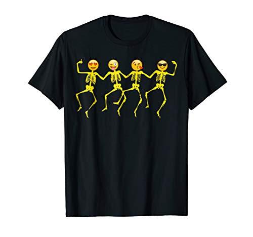 Emoji T Shirt Halloween Dancing Skeletons