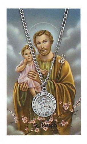 Round St. Joseph Medal with Prayer Card