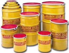 Transport Drum, Open Head, 55 gal., Yellow