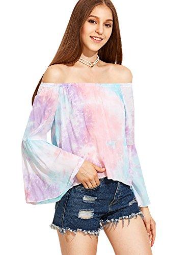 Buy bell sleeve dress pink - 3