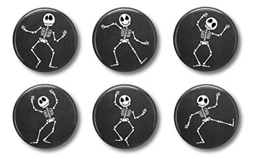 Halloween Magnets - Dancing Skeletons Set of 6 - Cute Locker Magnets for Teens -