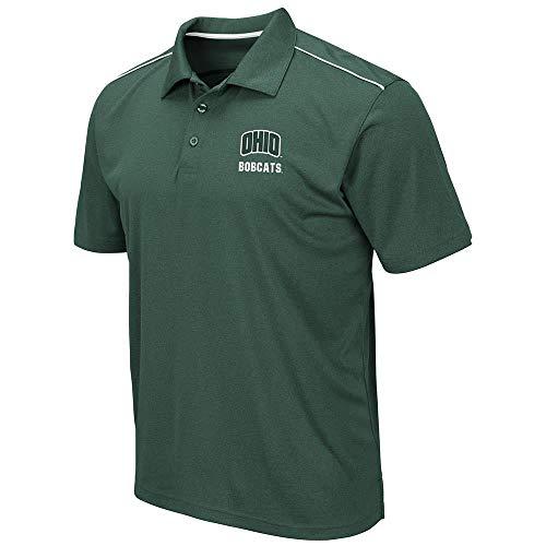 Mens Ohio Bobcats Eagle Short Sleeve Polo Shirt - L