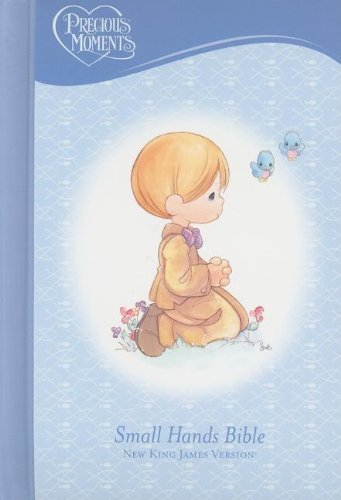 NKJV, Holy Bible, Precious Moments, Blue, Hardcover