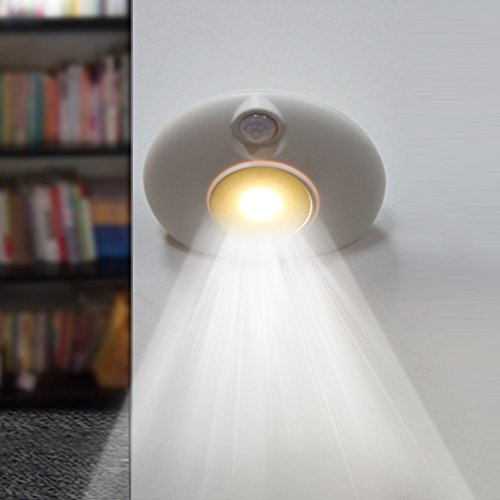 Motion Sensor Light for Bedroom Kitchen,Hallway,Closet,Bathroom,Toilet,Stair,Amber,USB Recharger(White)