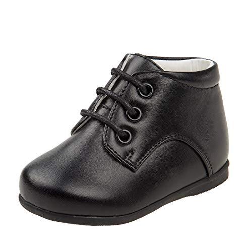 Josmo Baby Boy's First Steps Walking Dress Shoe (Infant, Toddler) (3 M US Infant, Black Hi Top)'
