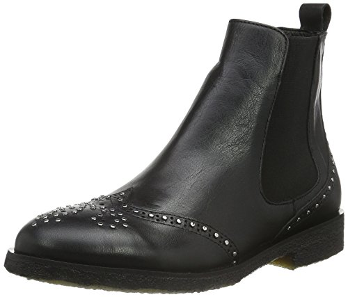 Classiques Femme Boot Bottes Rivet Sofie Noir Schnoor Black 4wqBgqnF