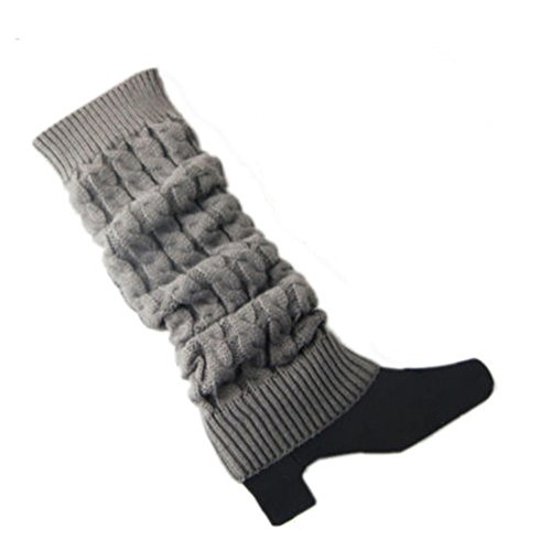 Women's Crochet Cable Knit Braided Winter Leg Warmers Boot Cuffs Toppers Socks