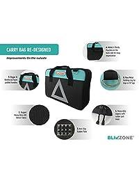 Blikzone 81 Pc Kit de emergencia de asistencia en carretera, camión y caravana, con kit de reparación de neumáticos • Cables de puente • Compresor de aire portátil • Correa de remolque • Triángulo de emergencia, Agua (Aqua)