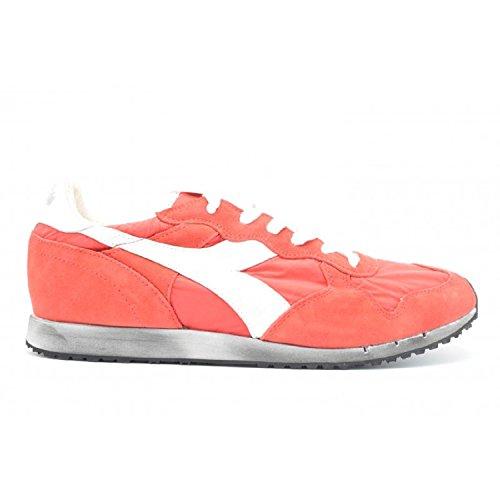 Diadora Trident NY SW Scarpe Sneakers Uomo Pelle Scamosciata Tessuto (Rosso - Nr. 45)
