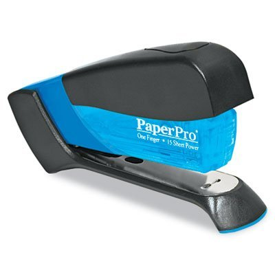 Compact Stapler, 15-Sheet Capacity, Translucent Blue, Sold as 1 Each