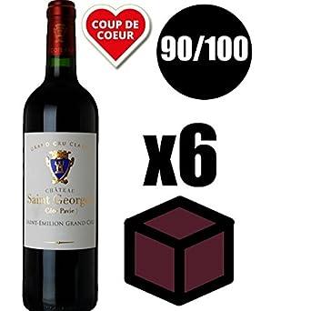 4d91548d235 X6 Château Saint Georges Côte Pavie 2015 Rouge 75 cl AOC Saint-Émilion  Grand Cru Classé Red Wine  Amazon.co.uk  Beer