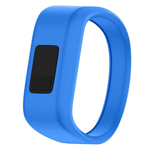QGHXO Band for Garmin Vivofit Jr/Vivofit Jr. 2, Soft Silicone Replacement Watch Band Strap for Garmin Vivofit Jr/Vivofit Jr. 2 Activity Tracker, Small, Large (Blue, Small: 5.7)