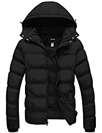Wantdo Men's Lightweight Hooded Puffer Jacket