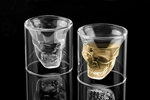 6x Totenkopf Schnapsglas Schädel Skull Head Shot Totenkopf Vodka Schnaps Glas Stamper
