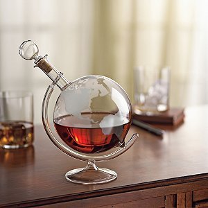 Etched Globe Decanter - 1