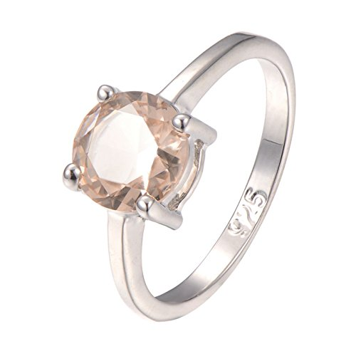 Morganite 925 Sterling Silver Filled Filled Ring Size M