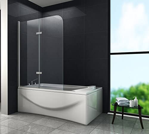 Brease – Mampara de ducha 100 x 140 (bañera): Amazon.es: Bricolaje ...