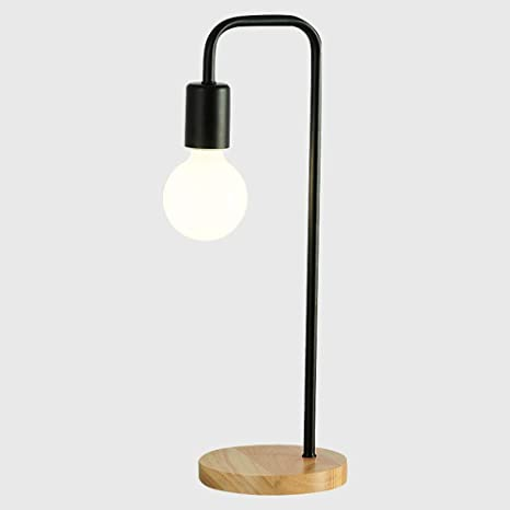 Table Lamps Iron Wood Light Contemporary Style Desk Light ...