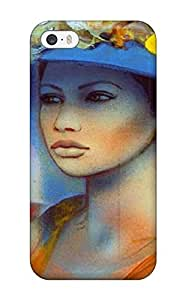 For AnnaSanders Iphone Protective Case, High Quality For Iphone 5/5s Women Fantasy Abstract Fantasy Skin Case Cover